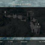 La mappa delle Catacombe.