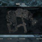 La mappa della Cripta di Halldir.