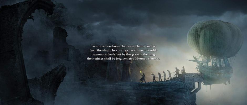 Il filmato introduttivo ci mostra l'arrivo dei prigionieri sulla cima del Monte Grimrock.