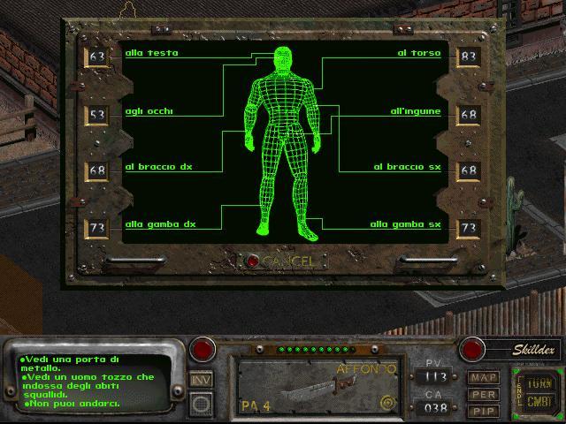 Il sistema di puntamento V.A.T.S., che ci permetterà di incrementare i danni e gli effetti di attacco a seconda del bersaglio scelto.