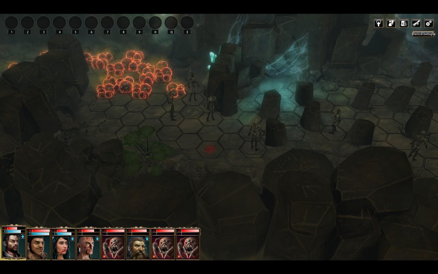 Blackguards elementi interattivi