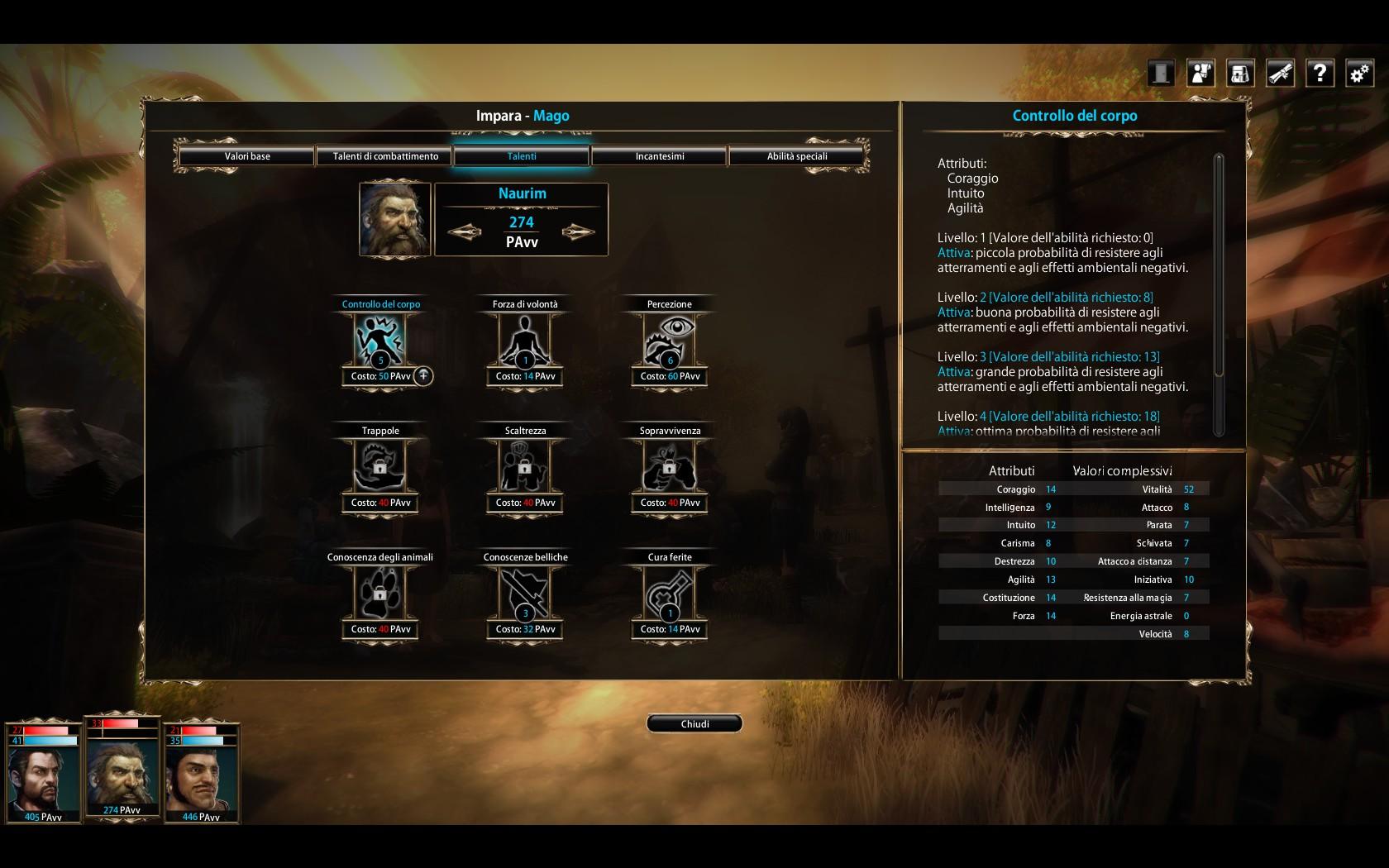 Blackguards stats