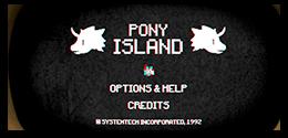Pony Island dark intro