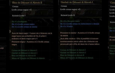 Set Armature Difensori di Aleroth