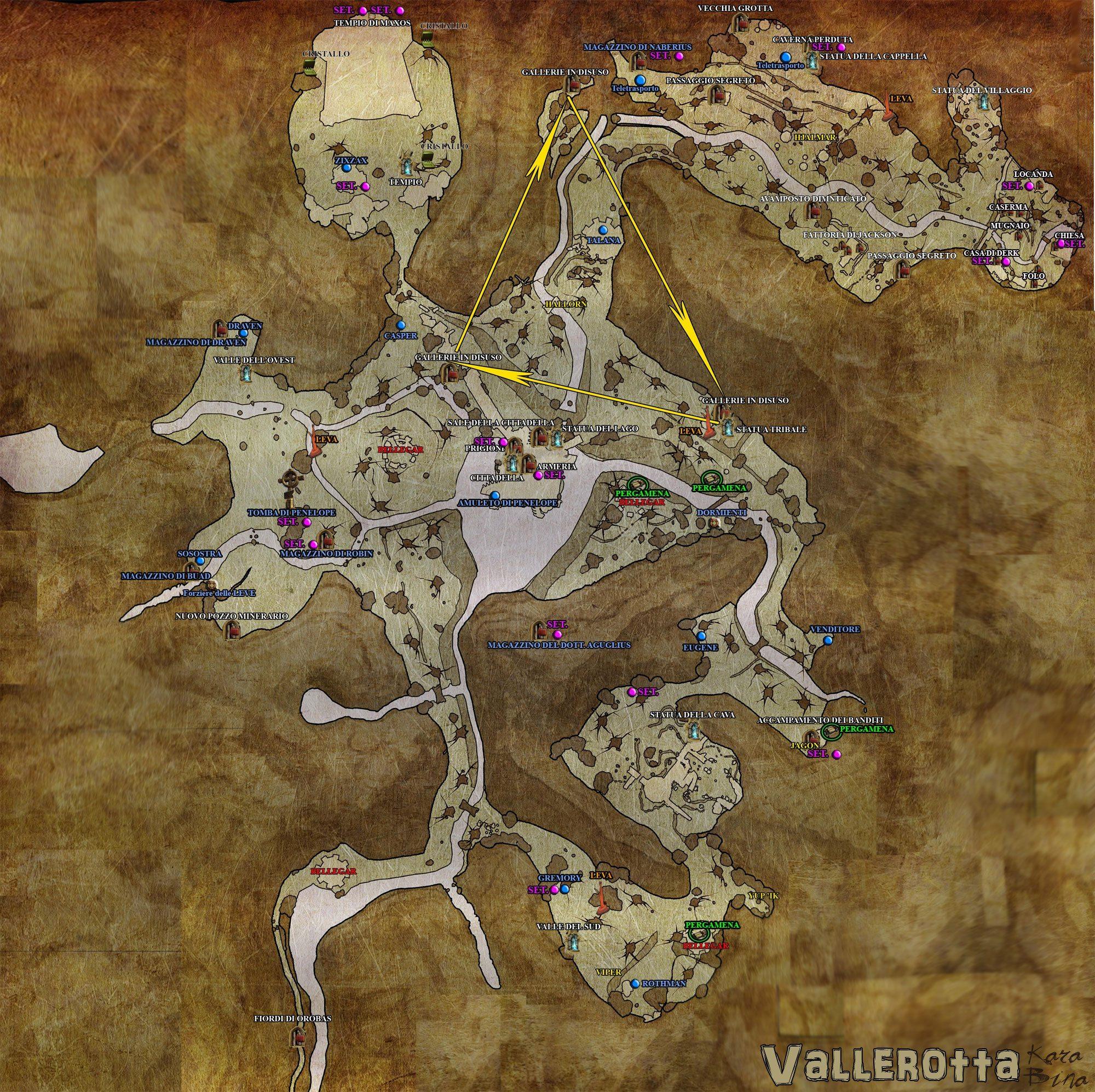 Mappa completa di Vallerotta