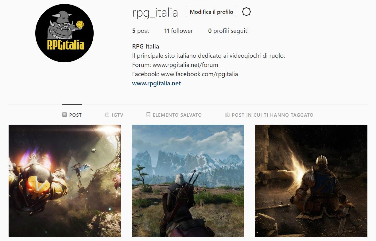 RPG Italia Instagram