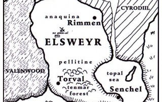 "La mappa di Elsweyr come appare in ""The Pocket Guide to the Empire"""