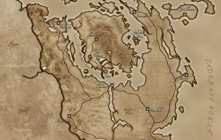 La mappa di Morrowind