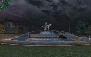 Il duello tra Almalexia e Mehrunes Dagon era immortalato in una statua in Plaza Brindisi Dorom