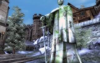 La statua di Tiber Septim a Bruma