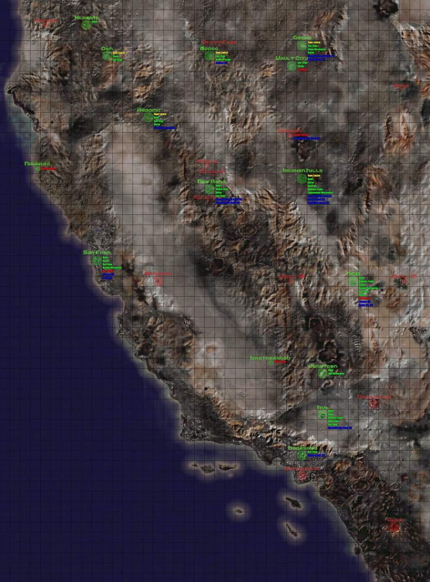 La mappa di Fallout 1