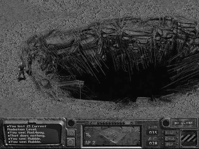 Il cratere di accesso al Glow