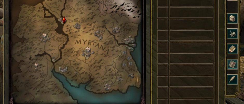 La mappa del gioco è estremamente scarna e povera di informazioni