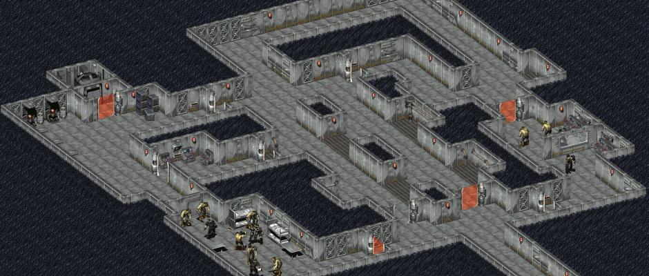 Un piano sotterraneo della Base di Mariposa in Fallout 1