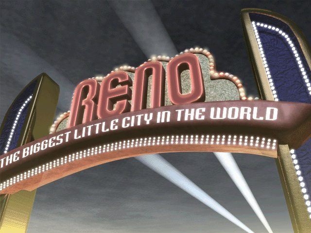 La vistosa insegna alle porte di New Reno
