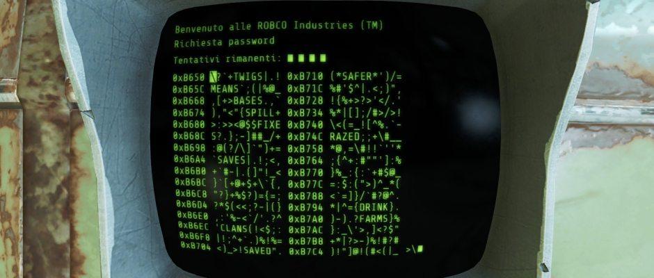 Il sotto gioco dell'hakeraggio è uguale a quello di Fallout 3